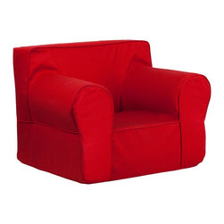 Flash Furniture - Flash Furniture Children's Chairs Kids Large Chairs X-GG-DER-DILOS-DIK-HC-EGL-GD - This comfy foam chair is a fun piece of furniture for children to enjoy for reading and relaxing. The lightweight design with carrying handle will allow this chair to be toted in several locations. The slipcover can be removed for cleaning or spot cleaned upon accidents. [DG-LGE-CH-KID-SOLID-RED-GG]