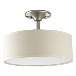 "Progress Lighting - Progress Lighting P3939-09 Inspire 13"" Two-Light Semi-Flush Ceiling Fixture - A simple semi-flush ceiling fixture that will meld with any room's décor.Features:"