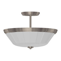 Artcraft Lighting - Artcraft Lighting AC4375CH Raleigh Polished Chrome Semi-Flush Mount - Artcraft Semi-Flush Mounts AC4375CH Chrome