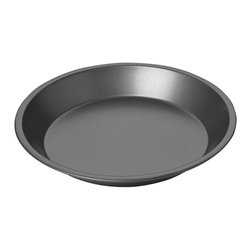 "Chicago Metallic - Chicago Metallic Non-Stick 9"" Pie Pan - Pie tins are usually just that — tin. Not this one. This is a heavy-duty steel pan that won't let your crust down. Pie after pie comes out beautifully browned with a crisp crust. The flakiness factor is totally in your hands."