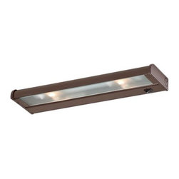 """CSL Lighting - CSL Lighting NCAX-120-16 16"""" 2 Light Xenon Under Cabinet Light Bar from the Coun - 16 Inch Two Light Xenon Under Cabinet Lamp from the CounterAttack CollectionEfficient and practical, the patented self-cooling Counter Attack is the """"can do"""" under cabinet lighting system. Counter Attack is available with 120 volt Xenon, 120 volt halogen and fluorescent lamping as well as in multiple finishes and sizes. Counter Attack under cabinet fixtures are easy to install and feature multiple full-size knockouts, a large easy to access wiring compartment and prismatic glass lenses. Also available with SpeedLink, a unique system that combines the ability to hardwire, link, or """"plug-in"""" operation, all in the same versatile Counter Attack fixture.Features:"""
