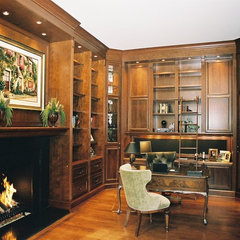 traditional home office by B. W. Interiors Chicago