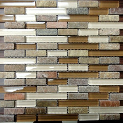 Glass & Stone Mosaic on Sale - Glass & Stone Mixed Mosaic in stock @ Tiles Unlimited! Only $7.97/sf. See here: http://www.tilesunlimitedny.com/tile-gallery/?photo=3527