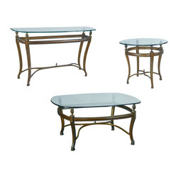 """Hammary - Hammary Suffolk Bay Square Cocktail Table Set - The best ideas in designs from around the world - combined with the finest materials available - meet in this new collection to create an unforgettable look for your home. """"Suffolk Bay"""" was inspired by the stately plantations of 19th century British west indies, a colonial period that married the furniture styles of Georgian England with the materials of island living. The result: style mixed with durability. Crafted from Honduras pine and finished in a clear antique tone, select items feature padded leather and woven veneer inserts. The hardware is crafted from the finest antique brass, adding a note of authenticity. Most items are highlighted with a carved pineapple motif or diagonal basket weave panels. Whether you live on a south pacific island, a southern plantation, or in a neighborhood with the joneses, """"Suffolk Bay"""" from Hammary promises to add class and unsurpassed style to your decor."""