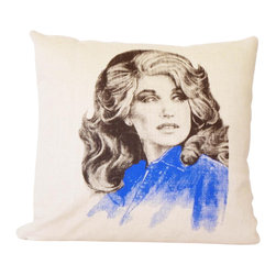 reStyled by Valerie - Dolly Parton Modern Country Decor Pillow, Accent Pillow - - Listing is for the 16 x 16 Pillow Cover only