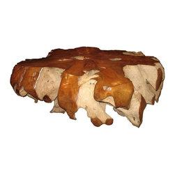 NOIR - NOIR Furniture - Teak Root Coffee Table - TEAK101 - Features: