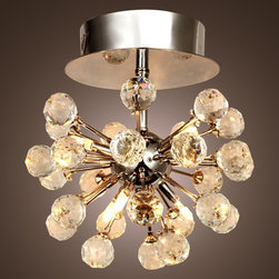 LightInTheBox K9 Crystal Chandelier with 6 Lights in Globe Shape - Features: 6 - lights Chandelier., Bulb Included, Constructed from high-quality materials, including crystal.