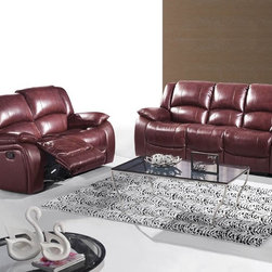 Fina Ultra Premium Italian Leather Reclining Sofa Set - The Fina Ultra Premium Italian Leather Reclining Sofa Set is wrapped in the finest top grain Italian leather. With soft comfortable oversized cushioned seating and backrests, and recliners this set is as gorgeous to look at as it is comfortable to relax on.