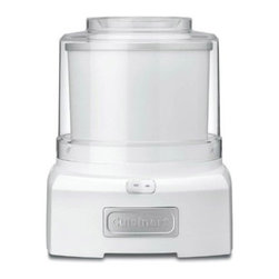Cuisinart Ice Cream Maker - Make ice cream and other frozen desserts right at home using the Ice Cream Maker by Cuisinart. Easy to use - you can make your own sorbets, frozen yogurts, and ice cream in less than 20 minutes without a lot of fuss or mess. The double-insulated freezer bowl holds up to 1 1/2 quarts. The bowl is BPA-free and dishwasher safe, for easy clean-up. To use, just throw in the ingredients and turn it on. Everything is mixed automatically with a patent-pending paddle that mixes while simultaneous aerating and freezing the ingredients. A transparent lid enables you to observe the ice cream making process. One of the benefits of making your own ice cream is that you can add your own ingredients to make desserts tailored to your own likes, whether they are healthy or delightfully decadent.
