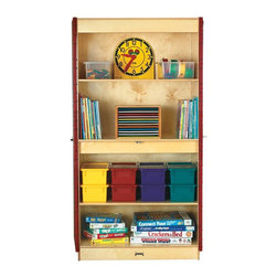 Jonti-Craft - Jonti-Craft Classroom Closet Deluxe Multicolor - 5950JC - Shop for Childrens Toy Boxes and Storage from Hayneedle.com! The Jonti-Craft Classroom Closet Deluxe offers safe and secure kid-friendly storage in a durable wood closet with two adjustable shelves. This spacious storage accessory features Jonti-Craft s unique KYDZStrong construction for exceptional durability and is backed by a lifetime warranty. Its KYDZTuff acrylic coating is wear and stain resistant and easy to wipe clean. Proudly made in America this kids storage closet comes with a lock and key and can be used for everything from board games and toys to school supplies.About Jonti-CraftFamily-owned and operated out of Wabasso Minn. Jonti-Craft is a leading provider of quality furniture for the early learning market. They offer a wide selection of creatively designed products in both wood and laminate materials. Their products are packed with features that make them safe functional and affordable. Jonti-Craft products are built using the strongest construction techniques available to ensure that your furniture purchase will last a lifetime.