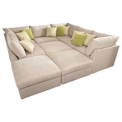 contemporary sectional sofas by Bassett Furniture