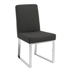"""Sunpan Modern - Zeus Parsons Chair (Set of 2) - Stunning dining chair is the perfect mix of comfort and design. Features: -Material: Cotton-polyester fabric.-Frame: Chrome finished stainless steel.-Please note that the leg color on Sunpan dining chairs does not always match the dining table color.-Please note that although every attempt has been made to ensure accuracy, all dimensions are approximate and colors may vary.-Distressed: No.-Upholstered Seat: Yes .-Upholstered Back: Yes .Dimensions: -Seat height: 19"""".-Overall Product Weight: 39.5 lbs.Warranty: -This item is deemed acceptable for both residential and nonresidential environments such as restaurants, hotels, lounges, offices and reception areas. Please note that this item carries the manufacturer's standard ONE YEAR WARRANTY from the date of purchase. Please contact Wayfair customer service or sales representatives for further information."""