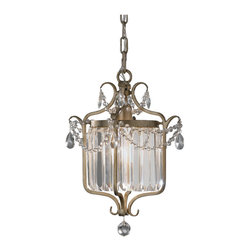 Feiss - Feiss F2473/1GS Gianna 1 Light Gilded Silver Chandelier - Finish: Gilded Silver