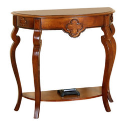 All Things Cedar - Ornamental Console Table - Classic Accents: A truly inviting selection of Classic Accent Furniture FEATURING Console Sofa Tables Wooden Wine Magazine Racks, Nesting Tables, and Glass Cherry Curio Cabinets. Item is made to order.
