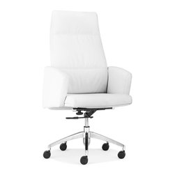 ZUO MODERN - Chieftain High Back Office Chair White - Chieftain High Back Office Chair White