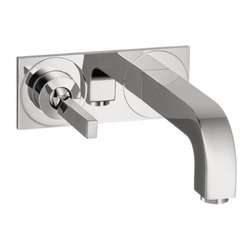 Hansgrohe - Hansgrohe Axor Citterio Wall-Mounted Single Handle Faucet Set with Base Plate - Hansgrohe 39115001 Axor Citterio Wall-Mounted Single Handle Faucet Set with Base Plate, Chrome