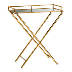 Cyan Design - Cyan Design Lighting 04445 Bamboo Tray Table - Cyan Design 04445 Bamboo Tray Table