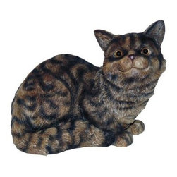 Michael Carr Cat Tabby The Cat Resin Statue - Let the darling Michael Carr Cat Tabby The Cat Resin Statue take a cat-nap in your garden. Part of the Garden Critters collection from Michael Carr Designs, this cute and lifelike creature adds personality and charm to any yard or garden. This handsome critter is hand-made from durable high-quality polyresin material and then hand-painted for quality. The durable polyresin has a U.V. coating that resists cracking or chipping from the sun.About Michael Carr DesignsDesigning an exclusive line of high-end garden pottery, fountains, statuaries, and bird baths, Michael Carr Designs brings something new and innovative to your outdoor living space. There's something for everyone with their fashionable colors, soft raining finishes, and multiple styles. Each piece is hand-made beginning with a craftsman molding the clay and ending with a rustic Old World kiln. This means each piece is unique, a true one-of-a-kind. Michael Carr Designs works in a variety of materials like Vietnamese glazed pottery, Malaysian pottery, Italian terracotta pottery, and resin just to name a few.