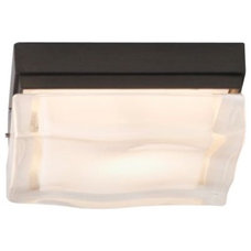 Bathroom Vanity Lighting Fluid Square Small Flushmount by Tech Lighting