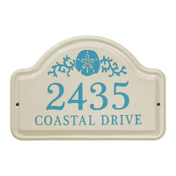 Sand Dollar Ceramic Address Plaque - Define a beach-side home or show your love for the ocean with this Sand Dollar Address Plaque.