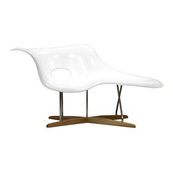 Amoeba Chaise Lounge - Who says chairs have to use conventional shapes?  This Ameoba Chaise Lounge, inspired by a groundbreaking mid-century design, boasts an unusual amoeba-shaped seat that's comfortable for both sitting and lying down. This is the ultimate conversation piece, and offers a perfect way to add a touch of modern art to your home.