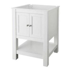 Foremost - Foremost Gazette 24 in. W x 22 in. D Vanity Cabinet Only, White (FMGAWA2422) - Foremost FMGAWA2422 Gazette 24 in. W x 22 in. D Vanity Cabinet Only, White