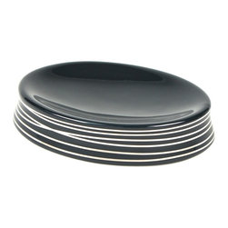 Gedy - Round Soap Dish, Anthracite/Silver - This soap dish by Gedy is part of their Diva collection.