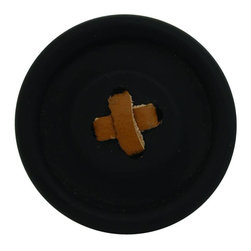 HK-Living Button Hook, Black - How cool is this black button hook with the cross-stitch leather detail? I imagine a few of various sizes hanging in line in the hallway.