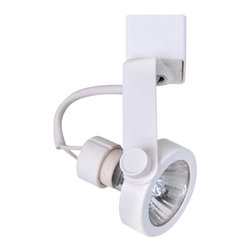 Elco - Elco ET1626 50W Line Voltage GU10 Base MR16 Gimbal Ring Fixture with Single-Poin - Elco ET1626 50W Line Voltage GU10 Base MR16 Gimbal Ring Fixture with Single-Point Connector ArmTrack lighting has become an instant style upgrade to any home or commercial space. Because of this, Elco Lighting has put a lot of thought and care into the manufacture of their track lighting line. Elco Lighting is proud to present a variety of high-tech affordable track systems. They have improved and created new lines of track, and track fixtures, that will be an attractive addition to any commercial or residential application.Features: