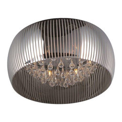 ET2 Lighting - ET2 Lighting E21403-81PC Flush Mount Ceiling Light in Polished Chrome - ET2 Lighting E21403-81PC Flush Mount Ceiling Light In Polished Chrome