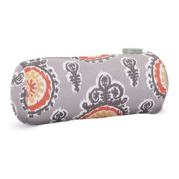 Majestic Home - Outdoor Citrus Michelle Round Bolster Pillow - Add a splash of color and a little texture to any environment with these great indoor/outdoor plush pillows by Majestic Home Goods. The Majestic Home Goods Round Bolster Pillow will add additional comfort to your living room sofa or your outdoor patio. Whether you are using them as decor throw pillows or simply for support, Majestic Home Goods Round Bolster Pillows are the perfect addition to your home. These throw pillows are woven from Outdoor Treated polyester with up to 1000 hours of U.V. protection, and filled with Super Loft recycled Polyester Fiber Fill for a comfortable but durable look. Spot clean only.
