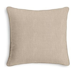 Taupe Lightweight Linen Custom Throw Pillow - Black and white photos, Louis XIV chairs, crown molding: classic is always classy. So it is with this long-time decorator's favorite: the Corded Throw Pillow. We love it in this lightweight linen blend with characteristic light slubs in light taupe.