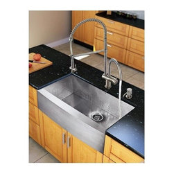 Vigo Industries - Steel Kitchen Sink and 28 in. Faucet Set - Give your kitchen a fresh new look with a VIGO All in One Kitchen Set.