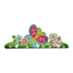Fantasy Fields - Fantasy Fields Magic Garden Peg Hooks Multicolor - TD-11636A - Shop for Home Furnishings and Accents from Hayneedle.com! Butterflies and smiling hand-painted flowers grace the Fantasy Fields Magic Garden Peg Hooks. Nothing gives an instant organization boost like hooks and we rarely see a set of hooks more cheerful than this one. This piece coordinates perfectly with Teamson's best-selling Magic Garden collection. From her diaper bag and baby blanket through her first Kindergarten backpack these peg hooks are durable and versatile to take her through the years.About Teamson DesignBased in Edgewood N.Y. Teamson Design Corporation is a wholesale gift and furniture company that specializes in handmade and hand-painted kid-themed furniture collections and occasional home accents. In business since 1997 Teamson continues to inspire homes with creative and colorful furniture.