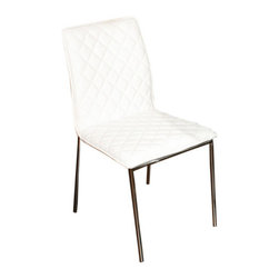 "Casabianca Furniture - Ivy Dining Chair (Set of 4) - Features: -Material: Leatherette.-Chromed legs.-Made with high quality materials.-Distressed: No.-Seat Upholstery Material: Leatherette.-Seat Cushion Fill Material: High density foam.-Back Upholstery Material: Leatherette.-Back Cushion Fill Material: High density foam.-Finish: Tied to Upholstery.-Hardware Finish: Brushed nickel assembly hardware.-Powder Coated Finish: No.-Gloss Finish: No.-Hardware Material: Stainless Steel Hardware.-Non-Toxic: Yes.-Arms Included: No.-Nailhead Trim: No.-Swivel: No.-Foldable: No.-Stackable: No.-Number of Legs: 4.-Leg Material: Metal.-Casters: No.-Protective Floor Glides: Yes.-Adjustable Height: No.-Saddle Seat: No.-Outdoor Use: No.-Commercial Use: No.-Recycled Content: No.Dimensions: -Overall Dimensions: 33.25'' H x 17'' W x 18.13'' D.-Overall Product Weight: 12.7 lbs.-Overall Height - Top to Bottom: 33.25"".-Overall Width - Side to Side: 17"".-Overall Depth - Front to Back: 18.15"".-Seat Height: 16.5"".-Seat Width - Side to Side: 17"".Assembly: -Assembly Required: Yes.-Tools Needed: Allen key, phillips-head screwdriver and flat-head screwdriver.-Additional Parts Required: No.Warranty: -Product Warranty: 6 months."