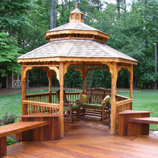 traditional gazebos 14' Cedar Double Roof Gazebo