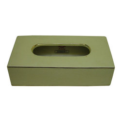 None - Cream Rectangular Porcelain Tissue Box - Add a touch of elegance to your decor with this tissue box. This box features a solid pattern in tones of cream.