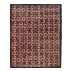 Safavieh - Tibetan Assorted Area Rug TB259A - 9' x 12' - Safavieh's High Touch Tibetan Weave brings an ancient weave and fine materials to the present sensibilities of today's interior design. Simple geometric patterns, almost hidden within the weave, with muted accents, soft shades and neutral earth tones, are the main visual characteristics of this series.