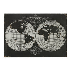Sterling Industries - Sterling Industries 51-10118 World Map-Laser Cut Map Of The Globe - Wall Panel (1)