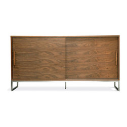 Bathurst Cabinet Viesso - This cabinet has the look of mid-century models I love, but a touch more up to date. I'd use one as a TV stand or hold board games inside and top with a mini-bar area.