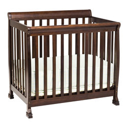 Da Vinci - DaVinci Kalani Convertible Mini Wood Crib in Espresso Finish - Da Vinci - Cribs - M5598Q - Kalani is cool and confident. It's DaVinci at its best. With first class engineering the Kalani Mini Crib gives baby years of sweet serenity in a smaller package. In one simple conversion this mini crib becomes a twin bed for when baby's all grown up. It's Cool. It's Kalani.