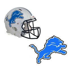 Brewster Home Fashions - NFL Detroit Lions Wall Graphics 4pc Teammate Sticker Set - FEATURES: