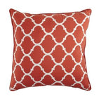 Cabana Geometric Pillow - Terracotta - A Moroccan windowpane design brings a sense of structure to the Geometric version of our Cabana pillows. They are super-soft and plush, and available in a rainbow of bright, summery shades.