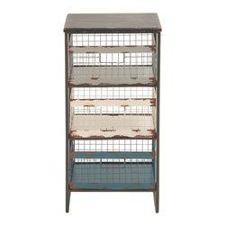 Rustic Metal Wood Storage Rack - Description:
