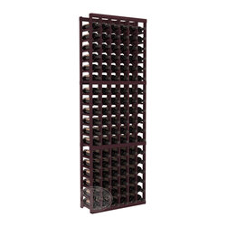 6 Column Standard Cellar Kit in Redwood with Burgundy Stain - Six columns for bottle storage is a perfect solution for 9 cases of wine. The modular format ensures you can expand storage without worrying about new racks lining up properly. We construct every rack to our industry-leading standards. You'll love our racks. Guaranteed.
