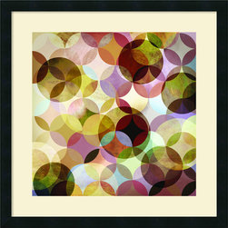 Amanti Art - Drako Fontaine 'Asymmetrical Slices II' Framed Art Print 25 x 25-inch - The dynamic tension between patterns and shapes, light and dark, creates visual poetry; stimulate your decor with this framed art print by Drako Fontaine.
