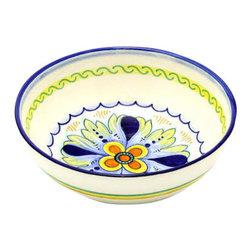 Artistica - Hand Made in Italy - Deruta Vario: Round Traditional Pasta/Soup/Cereal Bowl - Deruta Vario