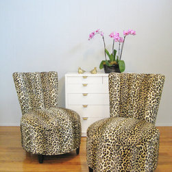 Vintage Leopard Mid Century Modern Hollywood by Fabulous Mess! - Fabulous vintage chairs from the '50s give a funky avant-garde style that looks great even after Valentine's Day. These chairs make for a stylish update and bring life into a room that's bland and needs color.