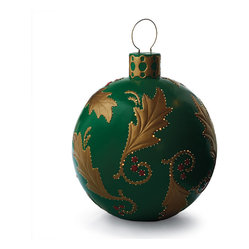 Green Holly Fiber-optic Ornament - Frontgate - Outdoor Christmas Decorations