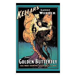 "Buyenlarge.com, Inc. - The Golden Butterfly: Kellar's Latest Wonder- Paper Poster 20"" x 30"" - Harry (Heinrich) Keller (1849-1922) was a predecessor to Houdini and was considered the dean of American magicians. When he retired, he gave his tricks to Howard Thurston in 1908. He was most famous for the levitating woman."